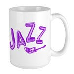 Jazz Electric Bass Purple Large Mug