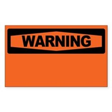WARNING BLANK Decal