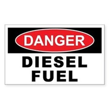 DIESEL FUEL Rectangle Decal