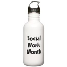 Social Work Month Water Bottle