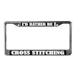 Cross Stitching License Frame
