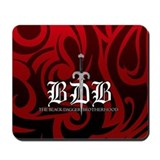 BDB Dagger Logo Red Mousepad
