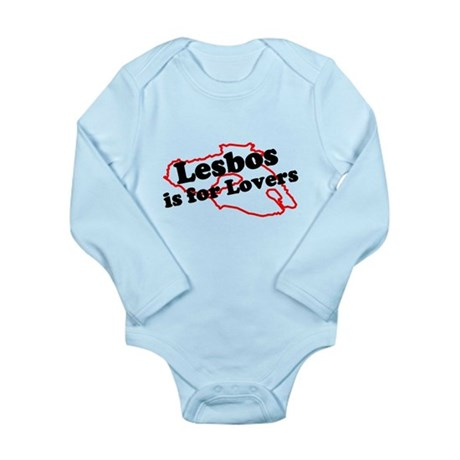 Lesbos is for Lovers Long Sleeve Infant Bodysuit