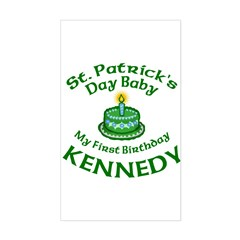 Customized for Kennedy Sticker (Rectangle)