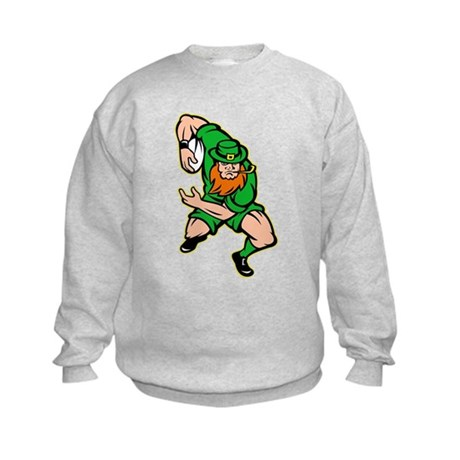 Irish leprechaun rugby Kids Sweatshirt