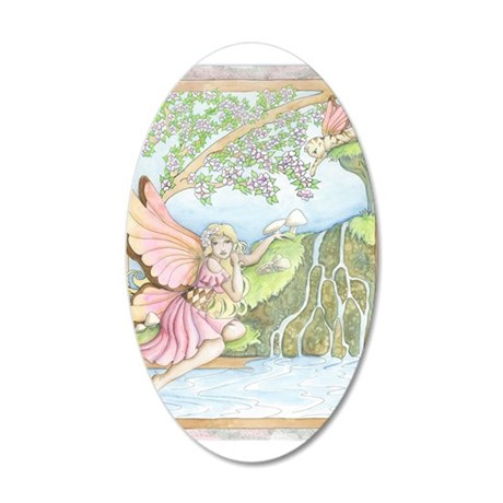 Arrival Of Spring 22x14 Oval Wall Peel