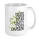 Obama Vine Half - Over Division Ceramic Mugs