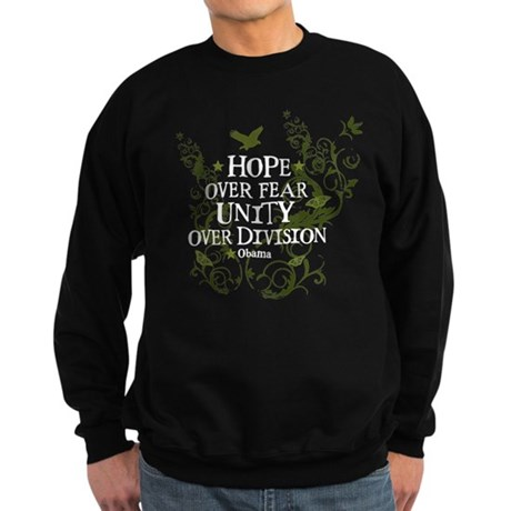 Obama Vine - Hope over Division Sweatshirt (dark)