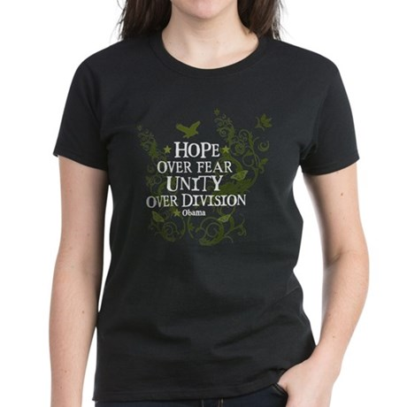 Obama Vine - Hope over Division Women's Dark T-Shi