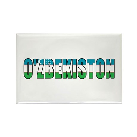 Uzbekistan Rectangle Magnet