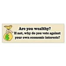 Are you wealthy? Bumper Car Sticker