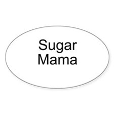 Sugar Mama Oval Decal