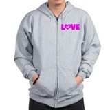 LOVE DACHSHUND (SMOOTH) Zip Hoody