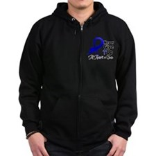 Never Give Up Colon Cancer Zip Hoodie