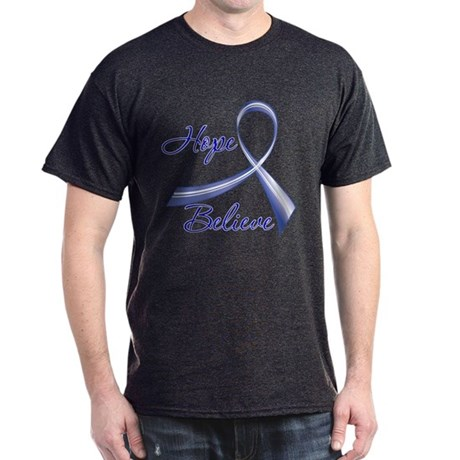 Hope Believe Colon Cancer Dark T-Shirt