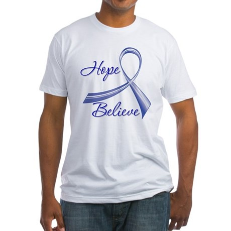 Hope Believe Colon Cancer Fitted T-Shirt