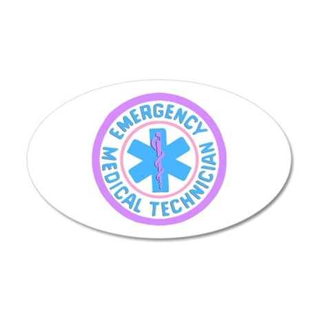 EMT Logo Pastel 20x12 Oval Wall Decal