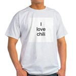 I love chili Ash Grey T-Shirt