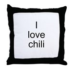 I love chili Throw Pillow