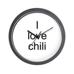 I love chili Wall Clock