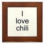 I love chili Framed Tile