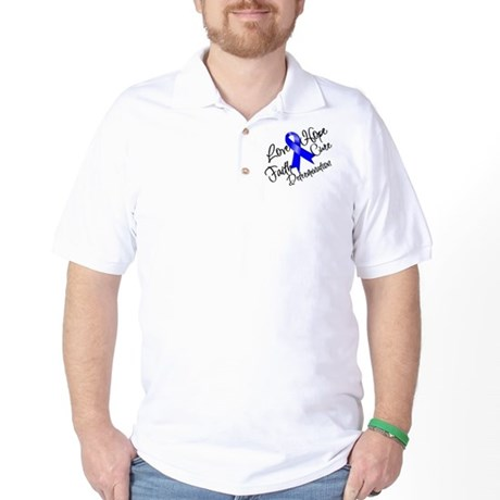 Love Hope Colon Cancer Golf Shirt