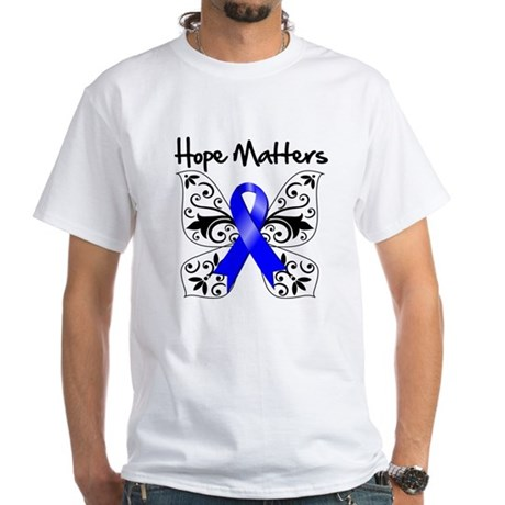 Hope Matters Colon Cancer White T-Shirt