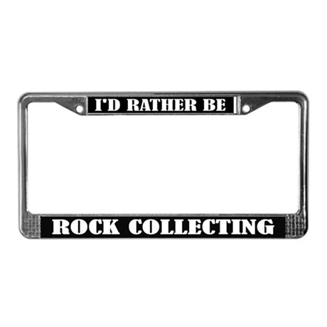 Rock Collecting License Frame