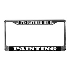 Painting License Frame