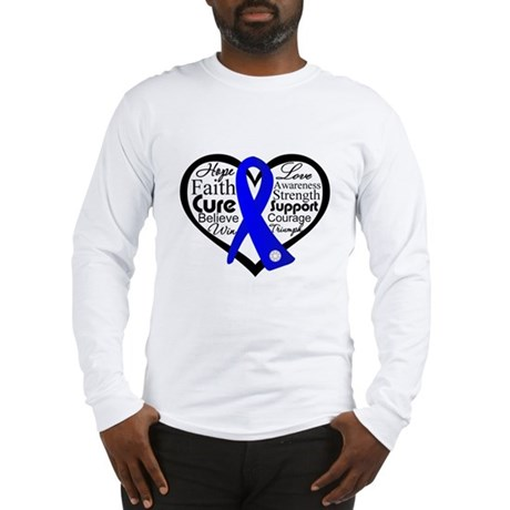 Heart Collage Colon Cancer Long Sleeve T-Shirt