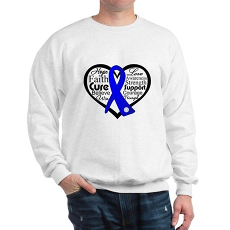 Heart Collage Colon Cancer Sweatshirt