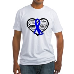 Heart Collage Colon Cancer Fitted T-Shirt