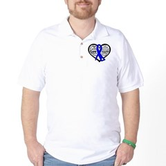 Heart Collage Colon Cancer Golf Shirt