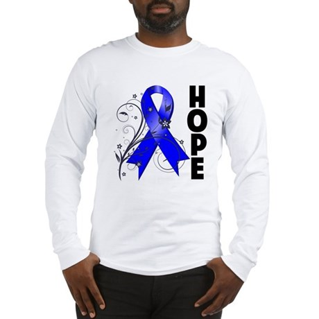 Floral Ribbon Colon Cancer Long Sleeve T-Shirt