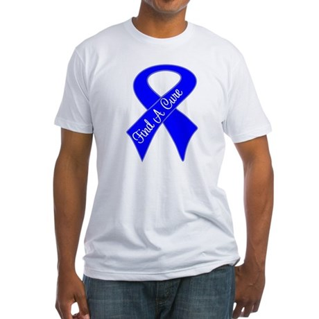 Find a Cure Colon Cancer Fitted T-Shirt