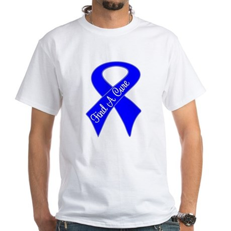 Find a Cure Colon Cancer White T-Shirt