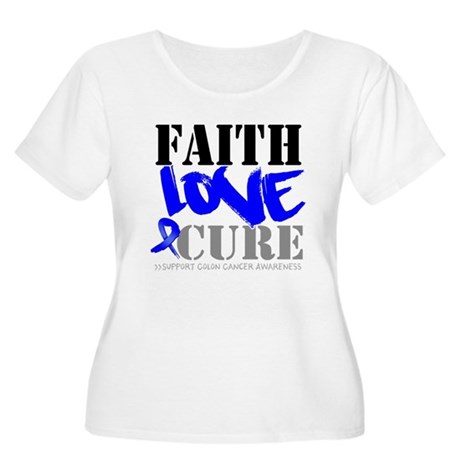 Faith Love Cure Colon Cancer Women's Plus Size Sco