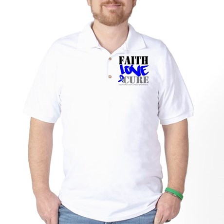 Faith Love Cure Colon Cancer Golf Shirt