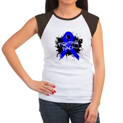 Fighting Back Colon Cancer Women's Cap Sleeve T-Sh