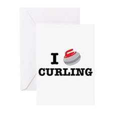 Cute Curling funny Greeting Cards (Pk of 20)