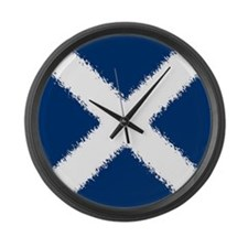 Scottish Flag Large Wall Clock