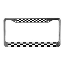 Checkered Flag License Plate Frame