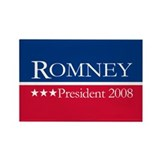 MITT ROMNEY PRESIDENT 2008 Rectangle Magnet (100 p