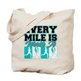 Cervical Cancer Every Mile Is Tote Bag