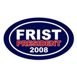BILL FRIST PRESIDENT 2008 Oval Decal