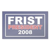 BILL FRIST PRESIDENT 2008 Rectangle Decal