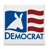 Democratic Flag Tile Coaster