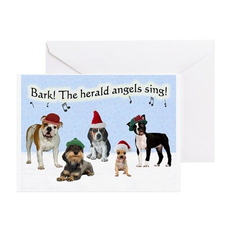 Bark The Herald Angels Sing Christmas Cards 20 Pk.