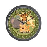 Jungle Safari Animals Wall Clock - Chadwick