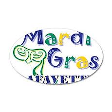 Mardi Gras Lafayette 22x14 Oval Wall Peel